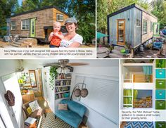 Build your tiny dream home with these designs and plans. Get the plans today! Tiny House Plans, Tiny House On Wheels, Little Houses, Small Houses, Small Nurseries, Small Sheds, Cottage Interiors, Second Baby, Small Living