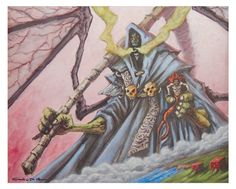 Dungeon Master acrylic on paper 20x30 cm