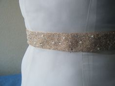 """Isabel"" Jeweled Bridal Belt Swarovski Crystal Rhinestone Glass Pearl Satin | eBay"