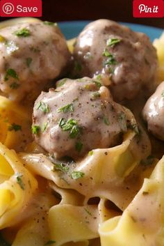 Swedish Meatballs - Insanely delicious creamy meatballs no trip to Ikea required. Ingredients Meat 1 lb Ground beef 1 lb Ground pork Produce  White onion Refrigerated 2 Egg yolks large Canned Goods 3 cup Beef broth low-sodium Pasta & Grains 1 Pappardelle