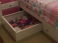 Under bed storage draws
