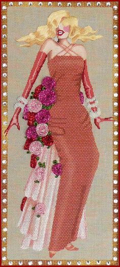 Femme Fatales   by Leigh Designs  Stitched by Leona Cole