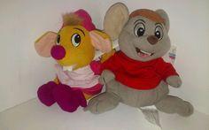 Disney Cinderella Mice Suzy & Bernard Plush Bean Bag NEW WITH TAGS  #Disney