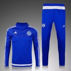 Survetement de foot 2015 2016 FC Chelsea Bleu Plus