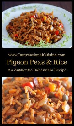 Bahamian pigeon peas and rice is a staple at nearly every meal. A delicious combination of flavors!