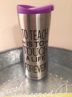 A personal favorite from my Etsy shop https://www.etsy.com/listing/234080392/personalized-teacher-travel-mug