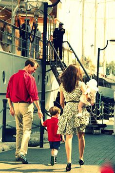 Prince Joachim and Princess Marie of Denmark with their children Prince Henrik and Princess Athena.