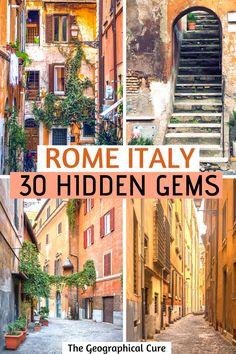 Planning a trip to Italy and want to get off the beaten path? Here's my guide to discovering 30 magnificent hidden gems in Rome Italy, where you can enjoy the best of Rome and escape the crowds. Some of these lesser known destinations in Rome are overlooked landmarks, underrated museums, glamorous palazzos, or recently unveiled attractions. Read on for the best off the radar things to do and see in Rome. Rome Travel | Rome Itineraries | What To Do In Rome | Rome Tips | #rome #italy Italy Travel Tips, Rome Travel, Travel Destinations, Rome Tips, Best Of Rome, Rome Itinerary, Day Trips From Rome, Things To Do In Italy, Regions Of Italy
