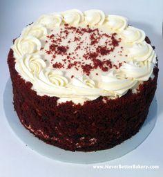 Never Better Bakery's Red Velvet Cake with our Vanilla Buttercream Frosting.