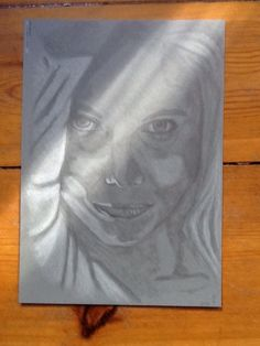 Sketch with chalk and pencils
