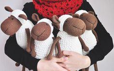 Stuffed sheep amigurumi lamb crochet softie crochet animal. Stuffed Toy Easter gift - Tender Lamb home decor lamb lamb home decor crochet sheep for Kids baby toys Stuffed sheep Stuffed toy Tender Easter gift gift softy toy best toy 35.00 USD #goriani