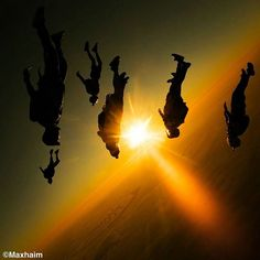 Some walk their path on the ground. Some leave tracks in the sky... #photo @max_haim - #turbolenza #dubai #palm #skydiving #sunset #performance #adrenaline #adventure #sport #lifestyle #gopro #instagram #fun #friends #beautiful #shadow #sun #flying #sky