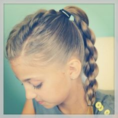 Single Frenchback into 3D Round Braid {5 min video tutorial.  Perfect for #BackToSchool #hairstyles!  Feel free to share!