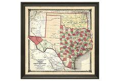 State Map of Texas on OneKingsLane.com