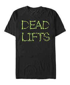 Black 'Dead Lifts' Crewneck Tee