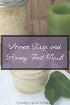 Lemon Drop and Honey Foot Scrub http://thelavenderhytta.com/2016/07/11/honey-lemon-foot-scrub/ A refreshing and relaxing foot scrub to get your feet summer ready.