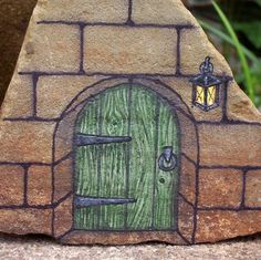 '*Dream Door* OOAK Hand Painted Rock Art' is going up for auction at 2pm Mon, Aug 12 with a starting bid of $5.