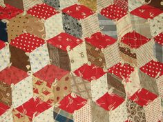 Ebay quilt detail (colors)  i.e.  what to do with all those reds