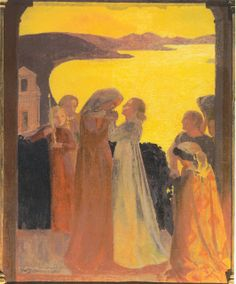 Magnificat - Maurice Denis - The Athenaeum Maurice Denis, Paul Gauguin, Art Français, Street Art, Jesus Painting, Edouard Vuillard, Post Impressionism, Sacred Art, Religious Art