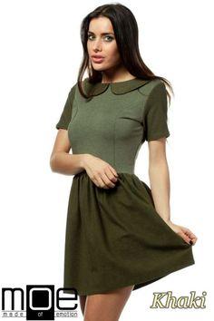 Kobieca sukienka mini z dopasowaną górą wyprodukowana przez MOE.  #cudmoda #moda #styl #sukienki #mini #ubrania #odzież #clothes #dresses #woman #women #fashion #glamour