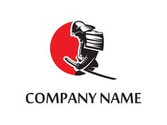 Samurai Samurai Tattoo, Samurai Art, Jb Logo, Icon Design, Logo Design, Foto Gif, Libra Tattoo, Japan Logo, Cartoon Logo