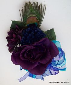 PRoM / WeDDiNG PuRPLe NaVY BLue aND aQua by VanCaronCollection, $25.95