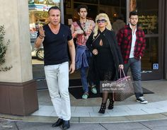Authors Ron Marinari and Patti Marinari are seen at Porto's Bakery and Cafe in Burbank on February 03, 2016 in Los Angeles, California.