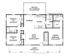 Home Floor Plans & House Designs by William Lindy-Hawick Simple Ranch House Plans, Simple Floor Plans, Modern House Floor Plans, Beach House Plans, Southern House Plans, Country House Plans, Basement House Plans, Craftsman House Plans, Bedroom House Plans