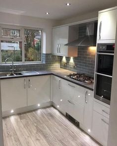 31 Beautiful Modern Condo Kitchen Design And Decor Ideas – Kitcapfix Kitchen Design Open, Kitchen Cabinet Design, Kitchen Layout, Interior Design Kitchen, Kitchen Cabinets, Open Kitchen, Kitchen Appliances, Farmhouse Style Kitchen, Home Decor Kitchen