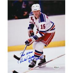 Increase your collections of Hockey Autographs by getting this Anders Hedberg Autographed 8x10 Photograph