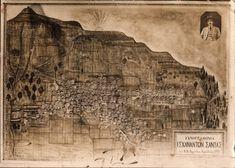 Santeos: Κυνότης - Σκυλότης Black Sea, Mount Rushmore, Greece, Vintage World Maps, Mountains, Poster, Travel, Painting, Art
