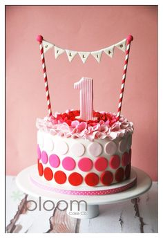 I definitely know when im trying this :P Cute First Birthday Cake