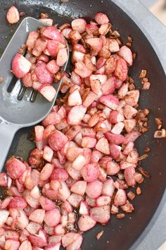 Pan-fried radishes have been on my radar for years and with this perfectly easy weeknight side, they'll be on yours too. Low Carb Recipes, Real Food Recipes, Healthy Recipes, Cooking Recipes, Pumpkin Crumble Recipe, Roasted Radishes, Paleo Bacon, Radish Recipes, Vegetable Recipes