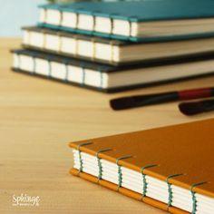 Cuadernos cosidos a mano para acuarela