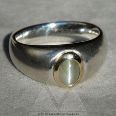 Ringe - Chrysoberyll Katzenauge cat eye 585 Gold Silber - ein Designerstück von Schmuckdesign-MarenKupke bei DaWanda