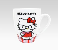 Take your first sip of coffee or tea with this adorable Hello Kitty Nerd Mug Set of 2. Each mug features Hello Kitty in her nerd outfit and thick black frames for a smart and cute look.