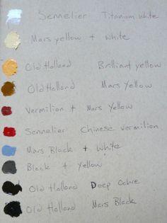 Odd Nerdrum's palette