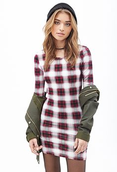 Scoop Back Plaid Dress | FOREVER21 - 2000099847
