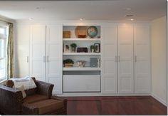 Cupboard doors for new living room bulkhead storage? Ikea Hack 14