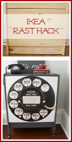 Ikea Rast Hack -We took this basic piece of furniture and transformed it into a vintage inspired beauty!  2 Bees in a Pod