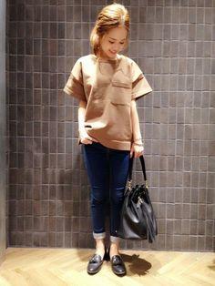JEANASISアミュプラザ鹿児島|chizuruさんのTシャツ/カットソー「【通常販売スタート】BIGポケプルオーバーSS/565899(JEANASIS|ジーナシス)」を使ったコーディネート