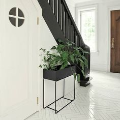 Ferm Living Box voor plant zwart metaal 60x25x65cm