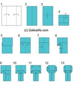 Kokeshi doll origami instructions