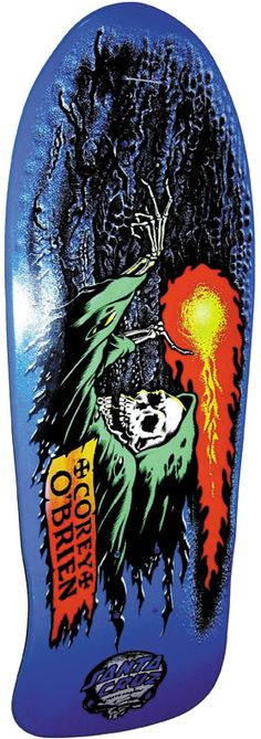 The fireball and skeleton are remarkable, then closer inspection reveals subtle background elements lurking in the clouds. [COREY OBRIEN DECK ART by Jim Phillips]