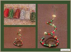 Perlenornament für den Weihnachtsbaum