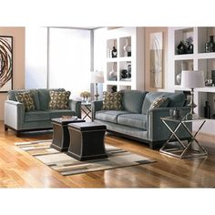 A furniture grouping that Alex and I finally agree on, and sadly it's discontinued :(  Hopefully we'll find something similar!  Living Room-Signature Design by Ashley 5430238 Entice Sofa - ATG Stores