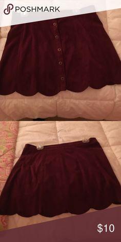 Burgundy Kendall and Kylie skirt Worn once PacSun Skirts
