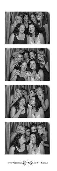 Photo booth - bridesmaids and brides