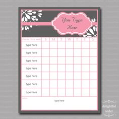 I'm in love with this site! Lot's of really cute printables for organization