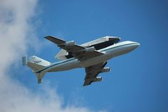 Space Shuttle Enterprise flying over @Mets Citi Field this morning.